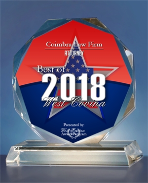 2018 Best of West Covina Award - Attorney
